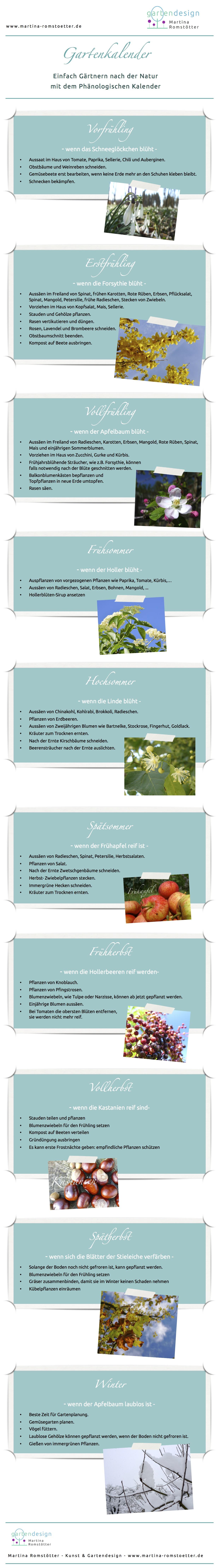 Gartenkalender Romstötter